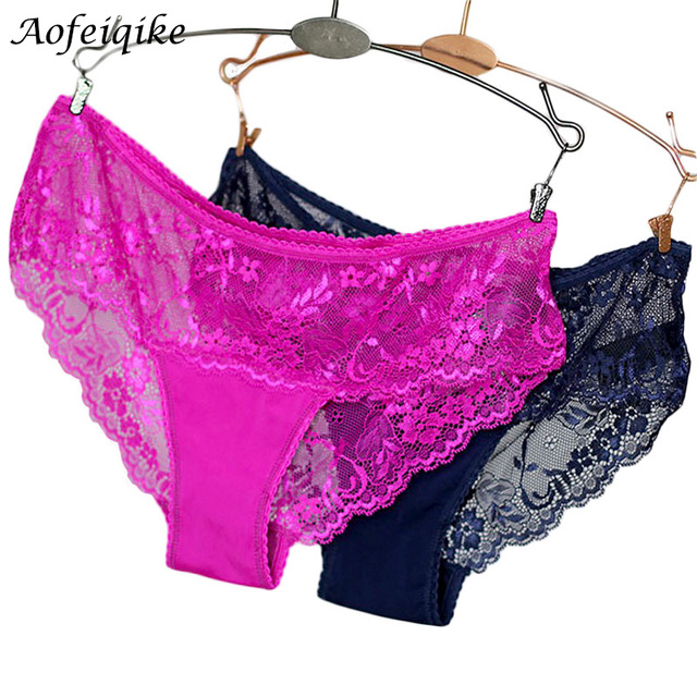 Sexy Transparent Lace Panties Seamless Briefs