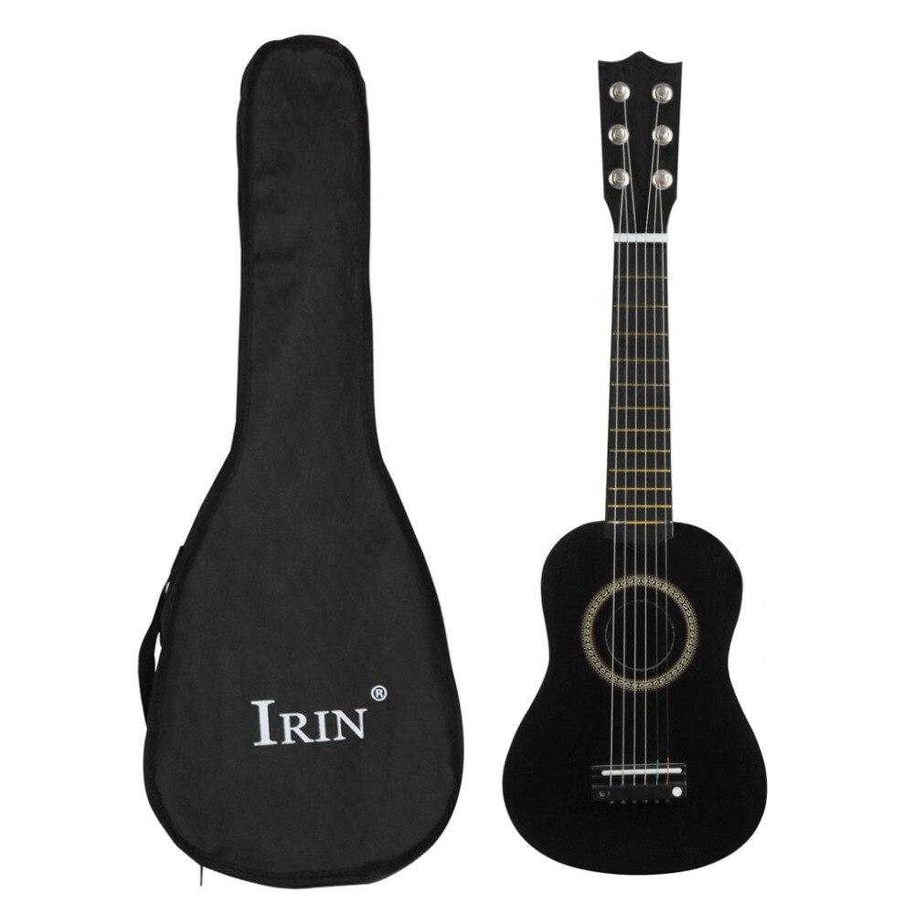Small Mini Guitar 21 inch 12 Fret 6 Metal String Wood Black And BagSmall Mini Guitar 21 inch 12 Fret 6 Metal String Wood Black And Bag