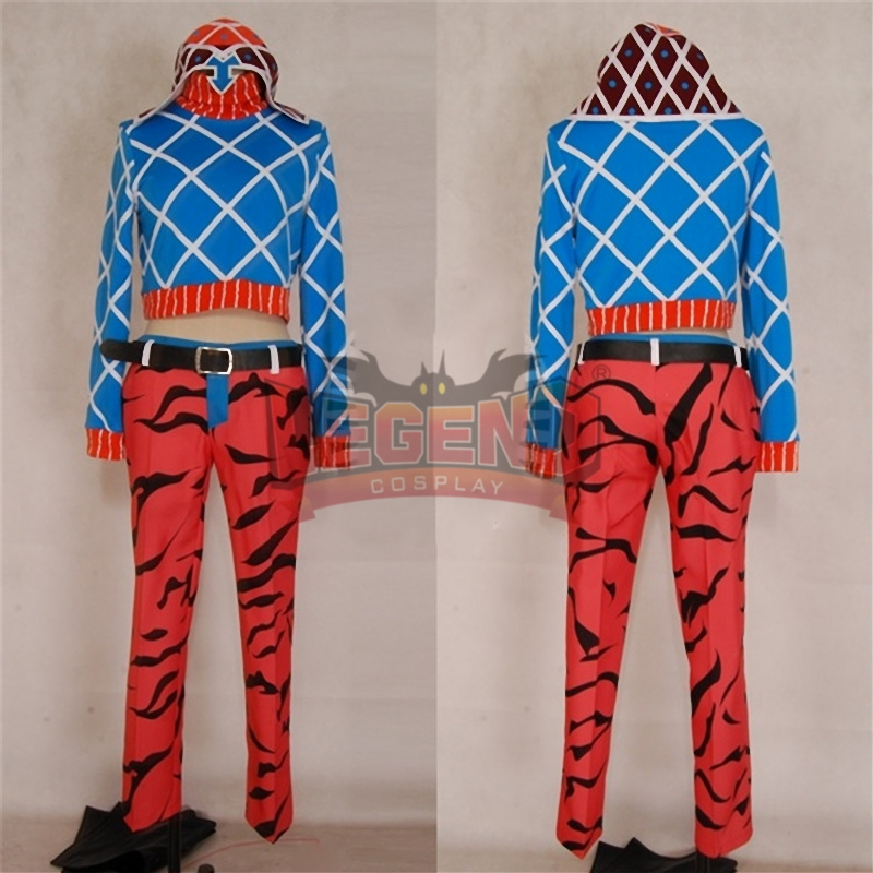 Anime JoJo's Bizarre Adventure Mista Guido Cosplay Costume halloween costume