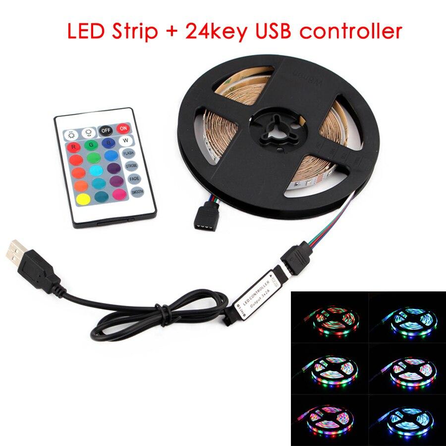5V Led Strip Light USB TV Backlight 2835 1 - 5 M 5V Lighting Desktop 5V White Warm White Led Strip Lights Lamp Tape Diode Ribbon
