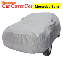 Buildreamen2 Car Cover Sun Snow Rain Scratch Dust Protector Auto Cover For Mercedes-Benz CLA CLA200 CLA220 CLA260 CL CL500 CL600