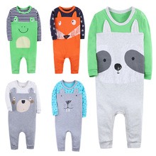 SexeMara Boys Girls Set Baby Rompers  Children Clothing Suit Body Suits Kawaii Animal Pattern Newborn Jumpsuit 3-24 Month