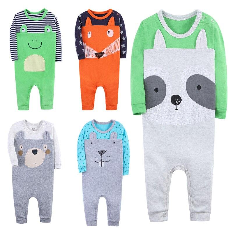 SexeMara Boy`s Girl`s Set Baby Rompers Children Clothing Suit Baby Body Suits Kawaii Animal Pattern Newborn Jumpsuit 3-24 Month