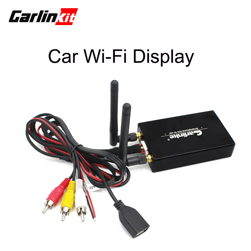 все цены на Carlinke Car WiFi Display iOS AirPlay Mirror Link for Car Home Video Audio Miracast DLNA Airplay Screen Mirroring 5.8G онлайн