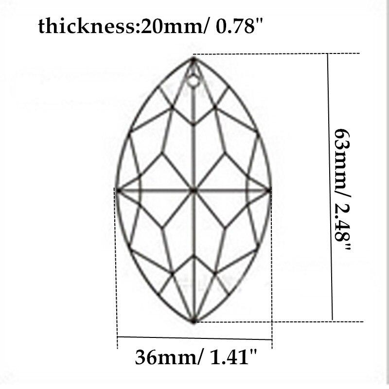 HIERKYST 1 հատ K9 ապակու բյուրեղային - Լուսավորության պարագաներ - Լուսանկար 2