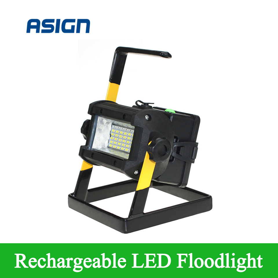 ФОТО Waterproof IP65 LED Floodlight 36LEDS Portable Spotlights Rechargeable Outdoor LED Work Emergency light