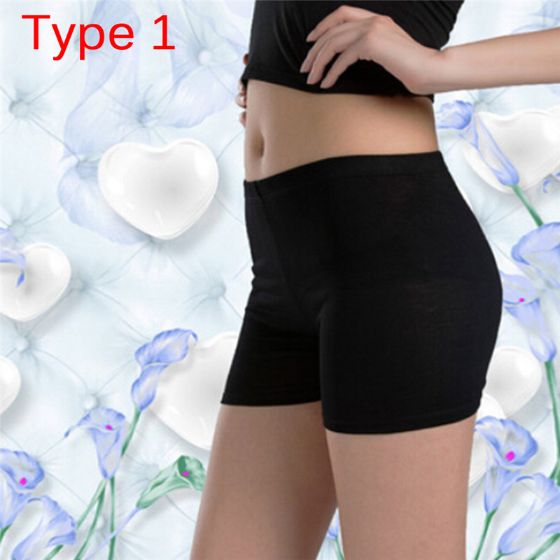 Women Soft Cotton Seamless Safety Short Pants Summer Under Skirt Shorts Modal Ice Silk Breathable Short Tights