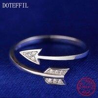 Fashion Women Jewelry 100 925 Sterling Silver Charm Double Arrows Women High Quality AAA Zircon Jewelry