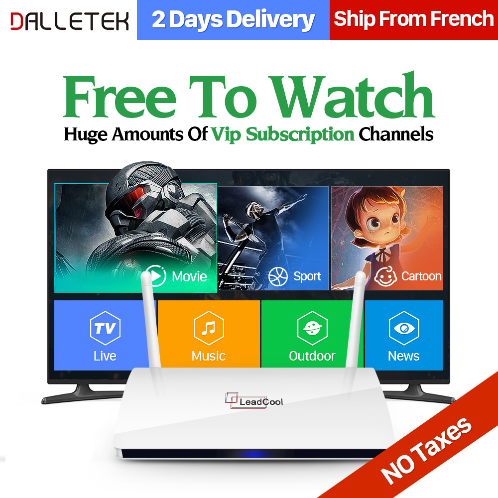 Dalletektv Android 6.0 TV Box IPTV Set Top Box 1G 8G with 1300+ IPTV Arabic French Europe IPTV Subscription 1 Year QHDTV Account x92 android iptv box s912 set top box 700 live arabic iptv europe french iptv subscription 1 year iptv account code