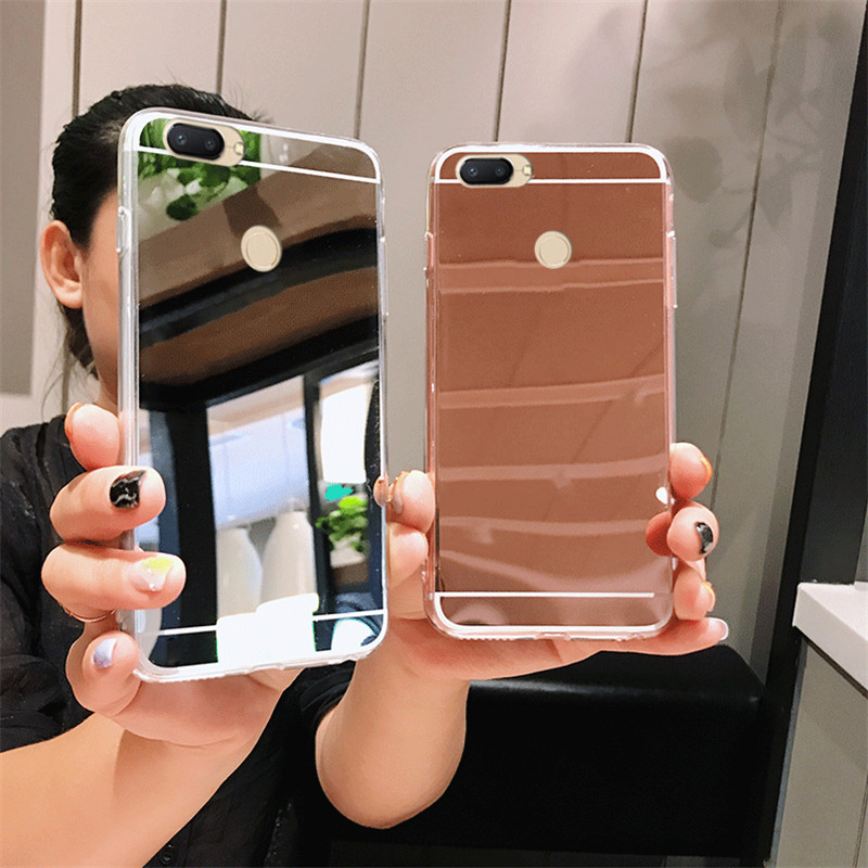 Luxury Mirror <font><b>Case</b></font> For Xiaomi Redmi A1 S2 3S Note 3 4 4X 4A 5 5S 5X Plus 5A 6 6A 6X Pro MIX MAX 2 8 <font><b>8SE</b></font> Rose Gold Clear Cover image