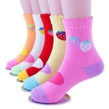 5Pairs/Lot 1-12 Years Cartoon Baby Socks autumn and winter C