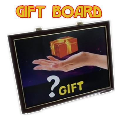 4D Gift Board Trick,Magic Props,Stage,mentalism,Close up,illusions,Party trick,comedy,accessories risk staple gun trick stage magic close up illusions accessory gimmick mentalism
