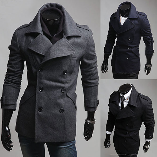 2015 Korean version of the new mens casual fashion winter coats ...