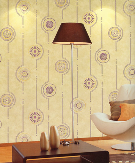 Circular Pattern Wallpaper Modern Minimalist Wall Painting Home Simple Deco Bedroom Minimalist Interior