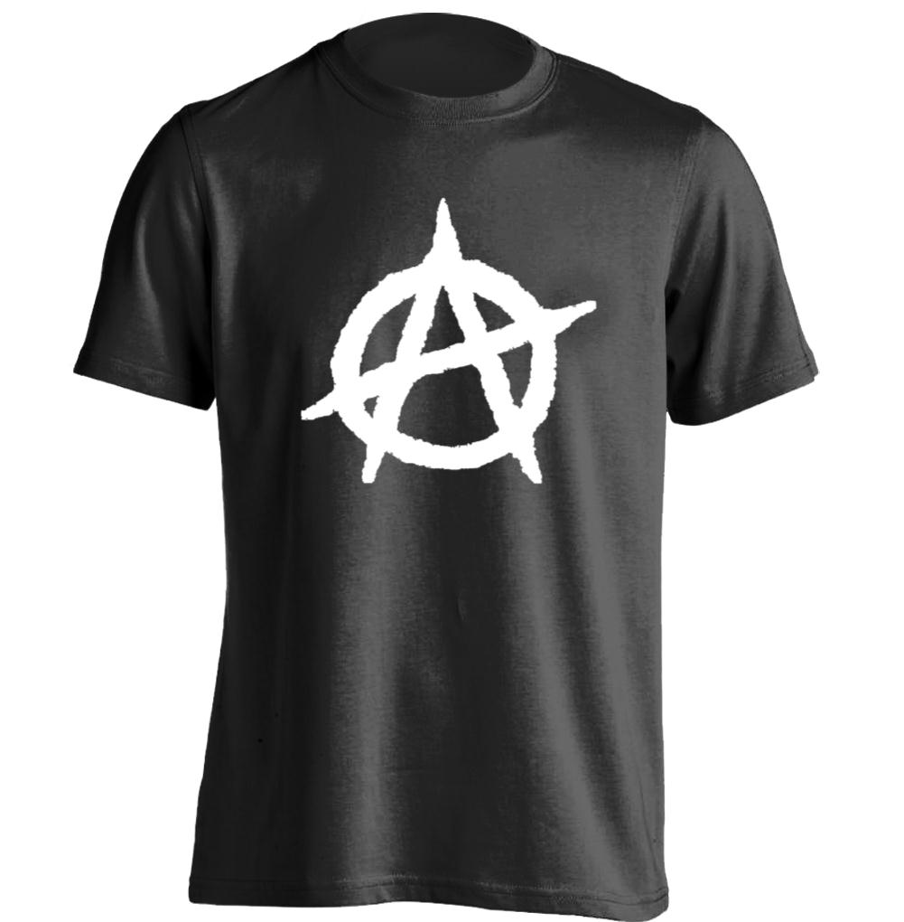 Shirt design on sleeve - Anarchy Rebel Mens Personalized Printing T Shirt Design Cool Tee China Mainland