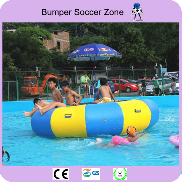 Free Shipping 2m 0.9mm PVC Inflatable Water Trampoline/Water Jumping Bed/Jumping Trampoline