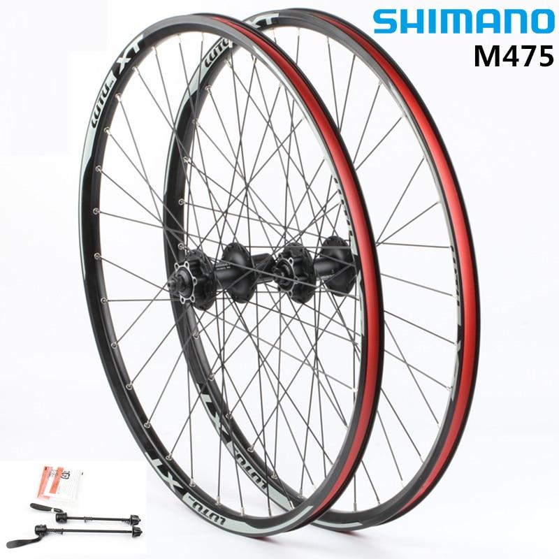 SHIMANO wheelset MTB mountain bike bicycle M475 hub 32 holes disc wheels wheelset rim 26 27.5ER 29ER все цены