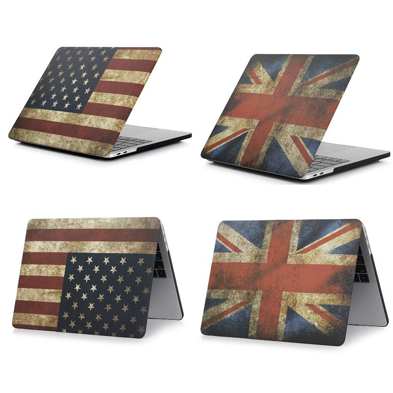 England USA Flag Hard Case Protector for MacBook 11 12 Air 13 inch Pro 13 Pro Retina 15 inch Touch Bar 2014 2015 2016 2017 2018 image
