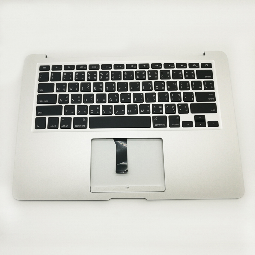 New A1466 Thai Thailand Top Cace Topcase Keyboard For Macbook Air 13'' A1466 2013 2014 2015 Years new laptop keyboard for apple macbook air a1466 fr french layout
