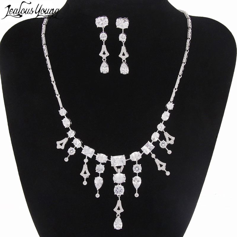 Crystal Wedding Bridal Bridesmaid Jewelry Sets Alloy Necklace Earrings Crown Jewelry For Women Hot Sale Parure Bijoux AS065 цены