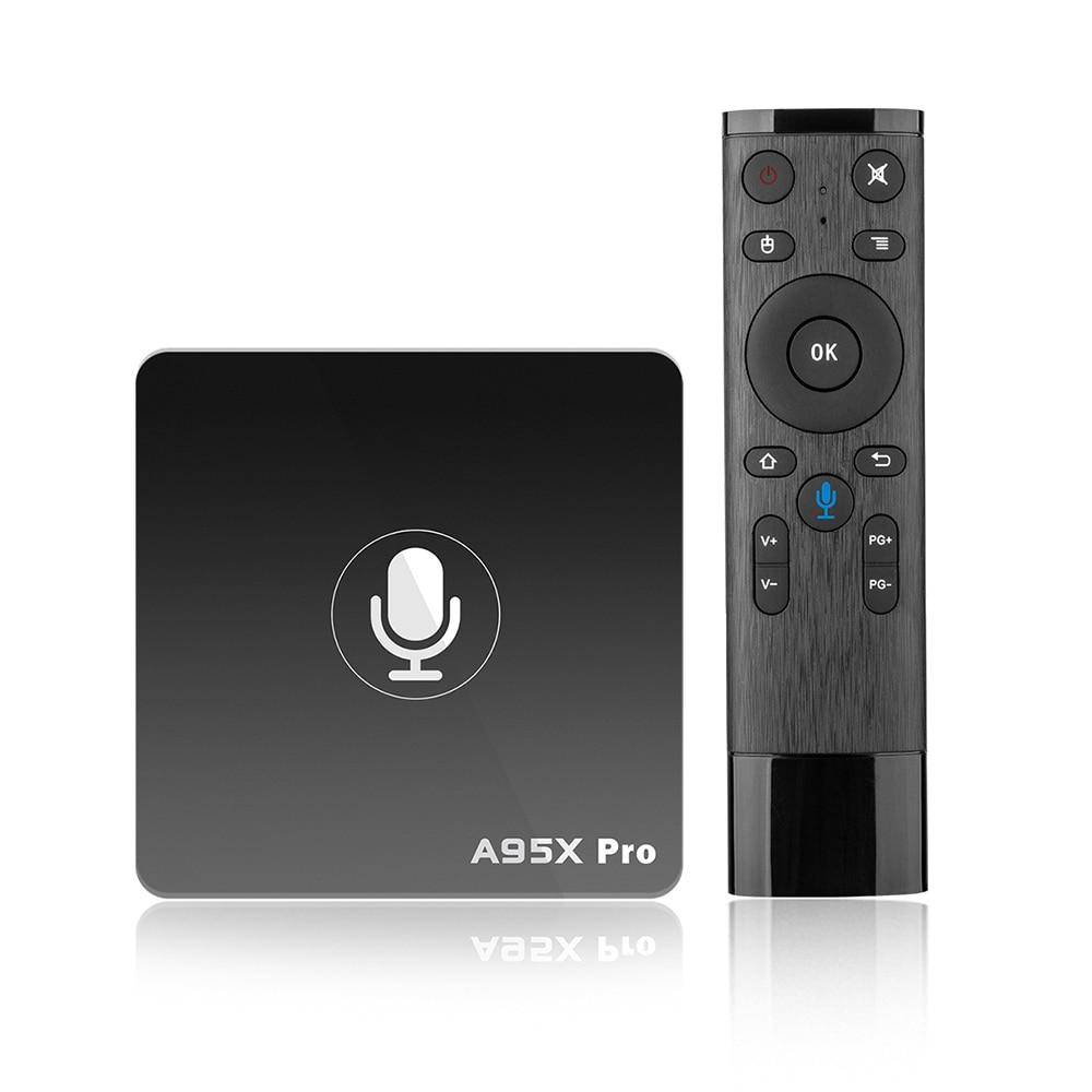 A95X PRO Android 7,1 TV Box Control de voz Amlogic S905W 2 GB RAM 16 GB ROM 2,4g WiFi soporte youtube 4 K Netflix HD Set Top Box