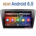 Free shippping 9 polegada Quad Core Android 6.0 jogador Do Carro DVD GPS Multimídia Para Skoda Octavia A7 (2013-2016) com mapas gps grátis