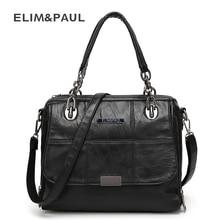 ELIM&PAUL Women's handbag PU Leather Messenger bag women's shoulder bag Fashion Bags women's leather handbags female Bolsa sac