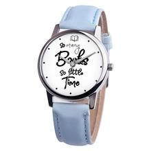 So Many Books So Little Time Lovers Faux Leather Quartz Wrist Watch Clock Gift moda mujer 2018 saat bayan