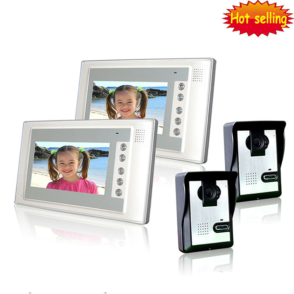 Free shipping Home Security 7 inch LCD Monitor Video Door phone Intercom System With Night Vision Outdoor Camera easy install
