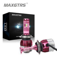 MAXGTRS Car Headlights H7 H11 LED 9005 HB3 9006 HB4 9012 62W 9000Lm Mini Auto Fog