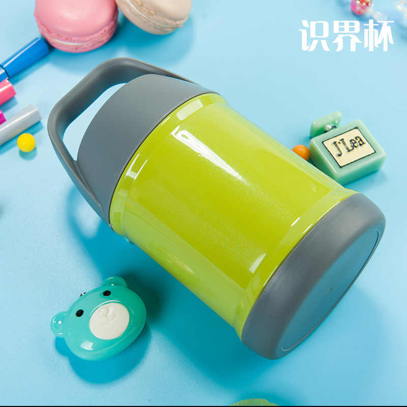 450ml Portable stainless steel metal thermos lunch box School vacuum food container thermos soup box with brush for free