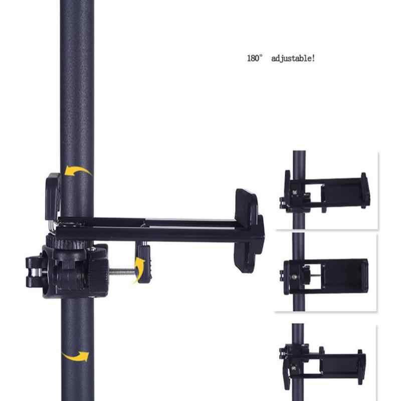 Đế Gắn chân máy Điện Thoại Máy Tính Bảng Gắn Kẹp cho iPhone 8 Plus 7 X iPad Mini Pro 10.5 Air 2 adapter Kẹp Đứng