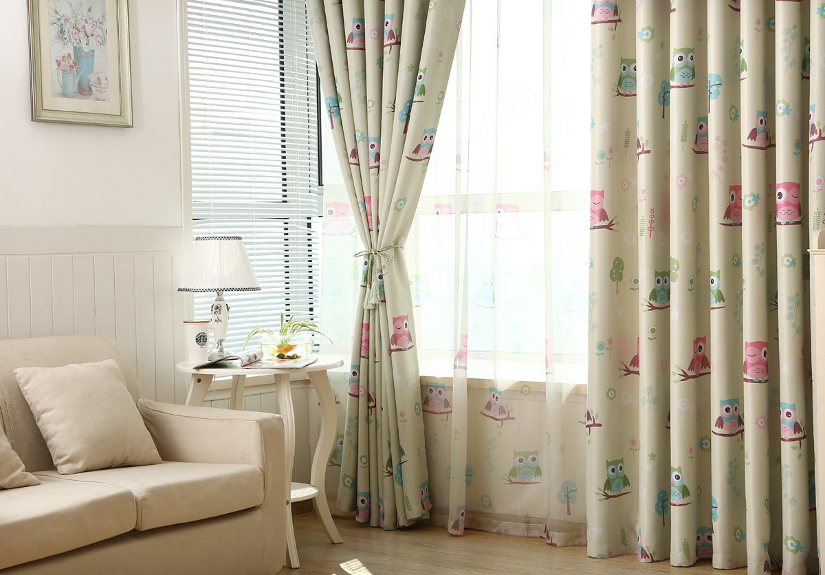 MYRU New Kids Room Curtains For The Bedroom Living Room Design Baby Owl  Curtains For Children Room Cartoon Curtains In Curtains From Home U0026 Garden  On ...