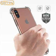 Фотография TORRAS Soft TPU Phone Case For iPhone X Original Transparent 360 Protection For Apple iPhone X Anti-crash Clear Cover Case