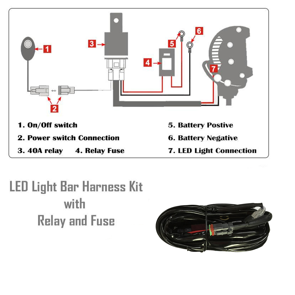 Led Offroad Light Wiring Diagram Schematics Off Road Nicoko 52300w Straight Bar With Rgb Halo Combo Dodge Lights