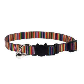 Cat Collar With Bell Safety Buckle Adjustable Kitten Small Dogs Cats Printing Collars Pet Supplies 8 XH8Z 1