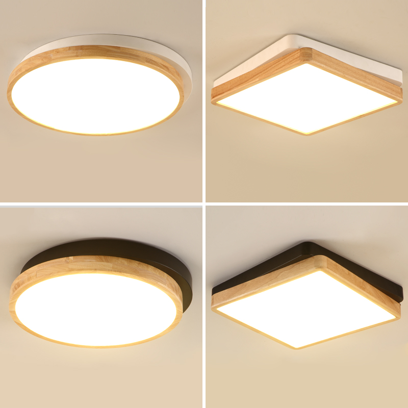 led Nordic minimalist modern wooden LED living room lamp bedroom lights balcony corridor lights Lamparas de techo led lamp abaju led ledchandelier post modern minimalist living room nordic creative bedroom dining room lights abaju