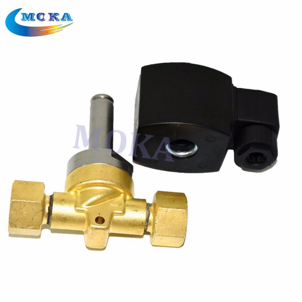 high pressure CO2 jet Electric Valve CO2 jet machine valve 1400 Psi for co2 jet cannon machine tiptop stage light co2 jet machine solenoid valve with brass fitting suit for co2 club cannon 100v 240v carbon dioxide generator