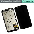 HK Post Free Shipping Tela For MOTO G XT1032 XT1033 LCD Screen Digitizer and Touch Screen with frame