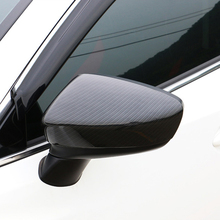 Free Shipping High quality Carbon Fiber Motor Car Automobile Rearview Mirror Cover For MAZDA 6 ATENZA car automobile high quality accessories car styling reflector rearview mirror door mirror arm bracket for jac truck