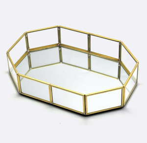 Image 4 - Guoyi S010 creative three dimensional brass glass office storage pen holder storage box and hotel room business jewelry gift box