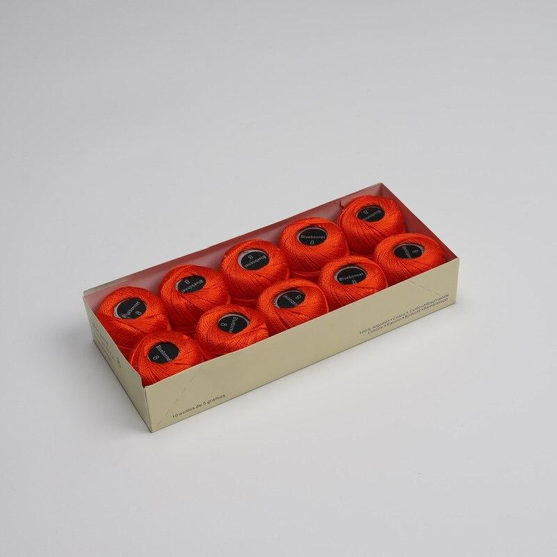 Размер 8 жемчужная хлопковая нить для вышивки крестиком 43 ярдов(5 грамм) на шарик Двойной Мерсеризованный длинный штапельный хлопок 10 шариков в цвет - Цвет: 247