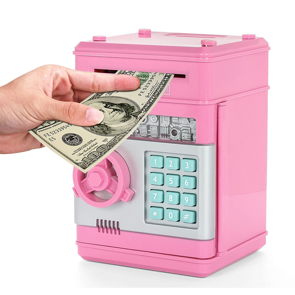 Electronic Piggy Bank Safe Box Money Boxes for Children Digital Coins Cash Saving Safe Deposit Mini ATM Machine Kid Gift ATM-ZH (4)