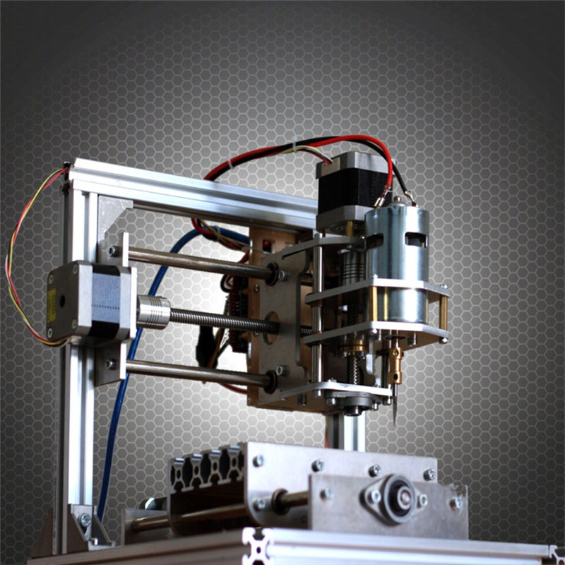 Hot Sale DIY 3 Axis Engraver Machine PCB Milling Wood Carving Engraving Router Kit CNC 250x240x240mm  hot sale mini cnc engraver cnc router aluminum