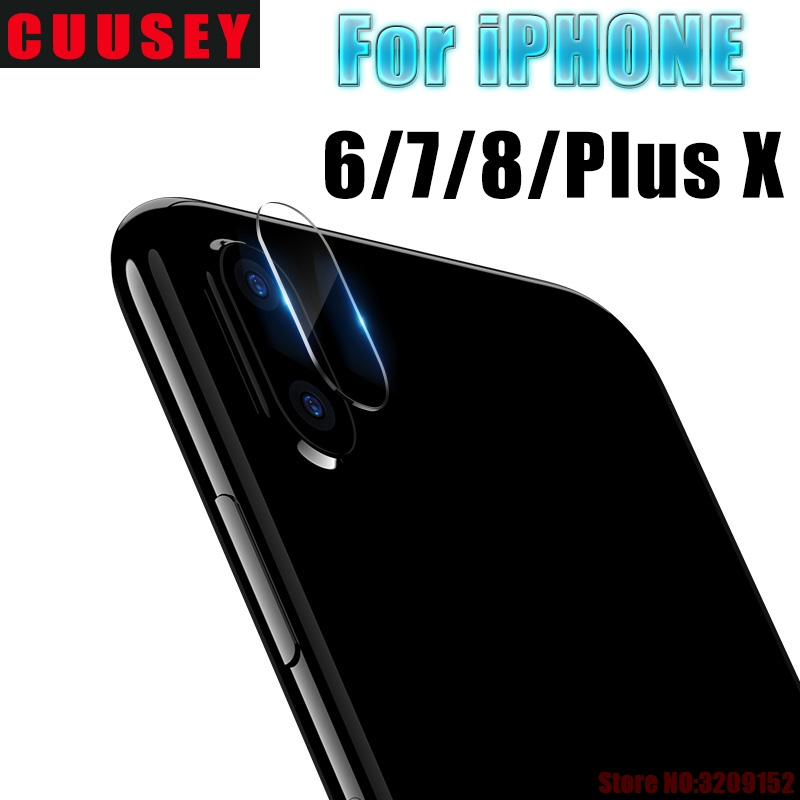 CUUSEY Camera Lens Protective Protector Cover For iPhone X Tempered Glass Camera Len Film For iPhone 8 plus 7 6