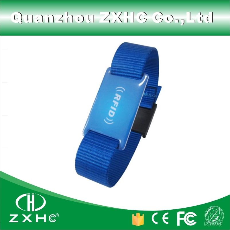 (3PCS) Epoxy + Nylon Material RFID 13.56MHz Bracelet Wristbands FM1108(Compatible With MF1 S50) survival nylon bracelet brown