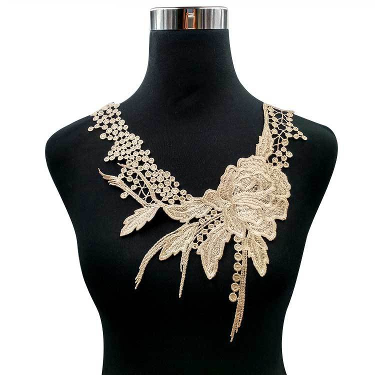 Water Soluble Lace Flower Collar Polyester Silk Embroidery Collar Three-dimensional Hollow Embroidery Corsage