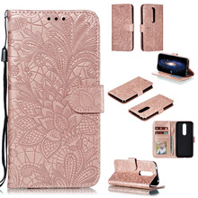 For Nokia 4.2 3.2 Case Lace Flower Flip Leather Cases For No