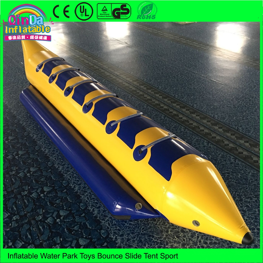Customized 6 Person Single Tube PVC Inflatable Water Banana Boat for Rental 8 person inflatable ski flotation 2 tube banana boat towables water wave surf game riding water game