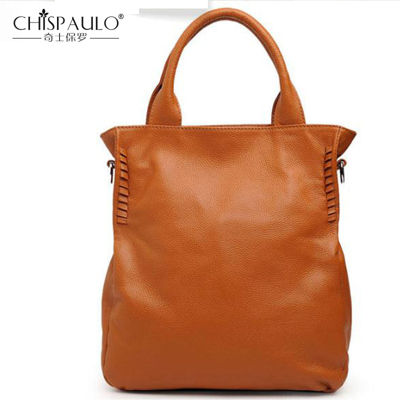 Brand Casual Tote Bag Genuine Leather Women Handbag Fashion Large Capacity Shoulder Bag Designer Crossbody Bag Quality Women bag runningtiger luxury brand designer bucket bag women leather yellow shoulder bag handbag large capacity crossbody bag